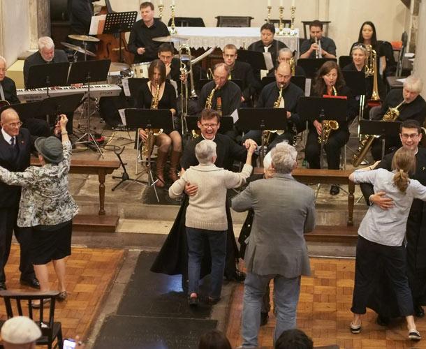 Dancing at St Pancras Old Church
